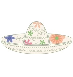 Sombrero vintage vector image