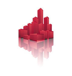 Skyscrapers cityscape vector