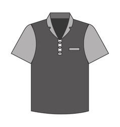 Tennis shirt uniform icon vector