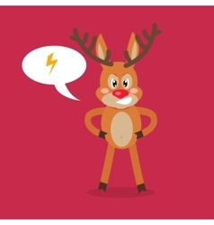 Deer angry with thunderstorm in a speech bubble vector