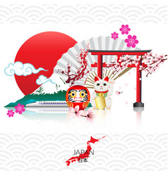 attraction of japan vector image