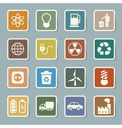 Eco energy icons set eps10 vector image