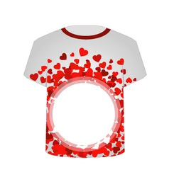 Printable tshirt graphic- heart tee vector