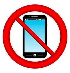 No phone sign vector