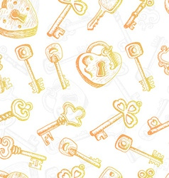 Seamless pattern with different keys vector