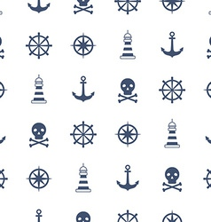 Seamless pattern with nautical symbols vector