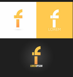 Letter f logo design icon set background vector