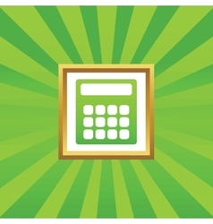 Calculator picture icon vector