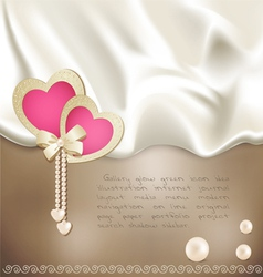 holiday background with silk vector image