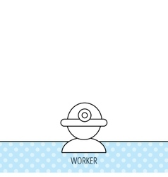 Worker icon engineering helmet sign vector