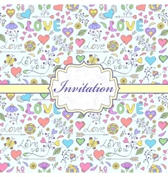 Colorful invitation card vector