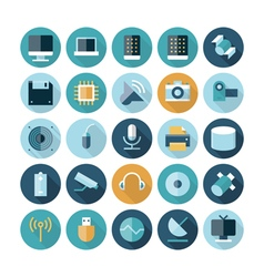 icons flat line technology vector image