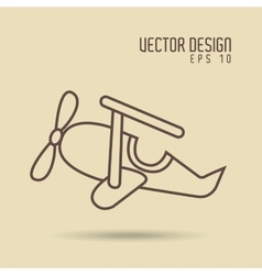 Airplane drawn design vector