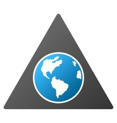 Terra triangle gradient icon vector