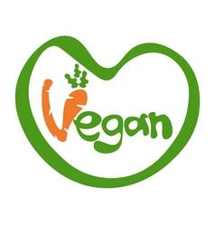 concept template lettering Vegan vector image