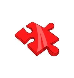 Piece of puzzle icon cartoon style vector