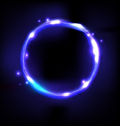 Abstract light ring vector