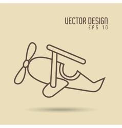 Airplane drawn design vector