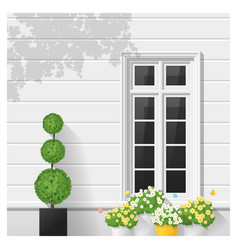 architectural element window background 5 vector image