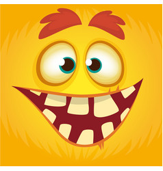 cartoon funny monster vector image vector image