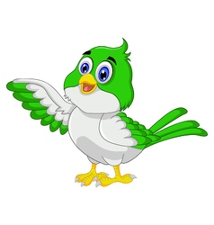 Cute bird cartoon posing vector