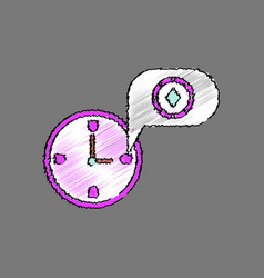 Flat shading style icon casino stuff time vector