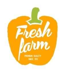 Fresh farm hand drawn isolated label vector