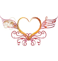 heart art and rock vector image