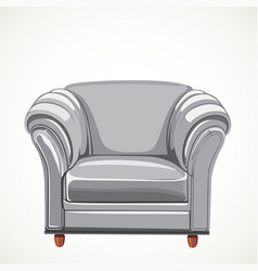 Isolated white armchair vector