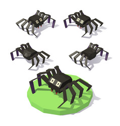 isometric low poly spide vector image vector image