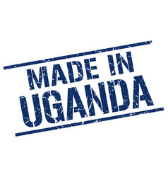 made in uganda stamp vector image