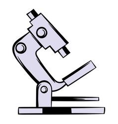 microscope icon cartoon vector image