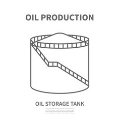 oil storage tank in linear style vtctor vector image