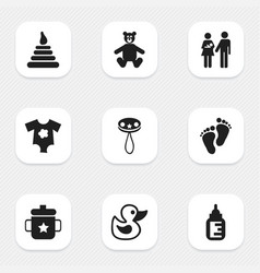 set of 9 editable icons includes symbols such a vector image