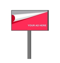 set of blank realistic billboards eps10 vector image