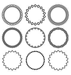 set of round frames in oriental style 2 vector image