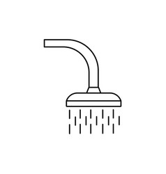 shower icon vector image vector image