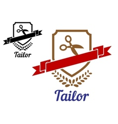 Tailor or sewing emblem vector image