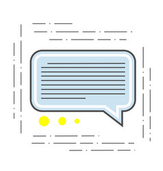 the of a chat is modern icon of vector image vector image