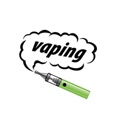 logo electronic cigarette vector image