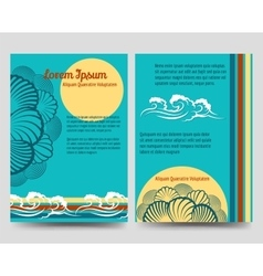 Sea style brochure flyers vector