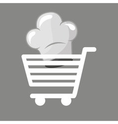 Shopping cart gourmet food vector
