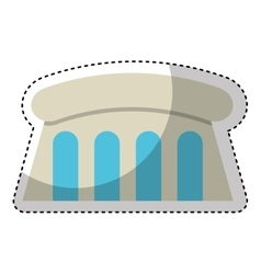 Dam hydroelectric isolated icon vector