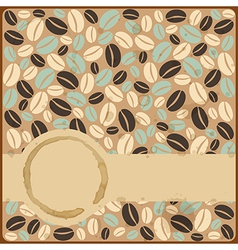 Grunge retro vintage card with stains and coffee vector