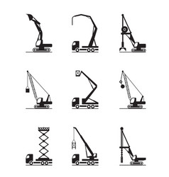 High-rise construction machinery vector