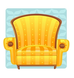 Yellow armchair vector