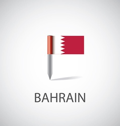 Bahrain flag pin vector