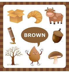Brown color vector