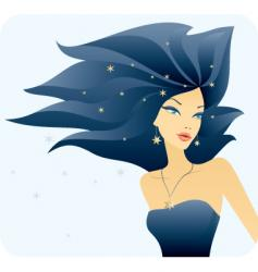 hair blue vector image
