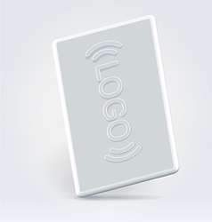 White security pass card vector